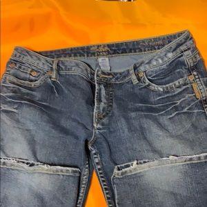 EUC silver jeans size 34